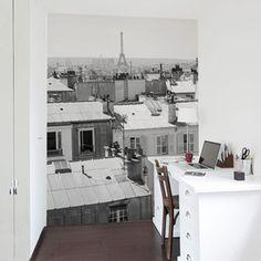 Tapete Paris M Schwarzweiß, 160€, jetzt auf Fab.