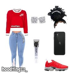 cute outfits outfit inspo for baddiezz (hoodtingzz - Swag Outfits For Girls, Boujee Outfits, Cute Spring Outfits, Cute Swag Outfits, Teenage Girl Outfits, Cute Comfy Outfits, Cute Outfits For School, Teen Fashion Outfits, Tomboy Fashion