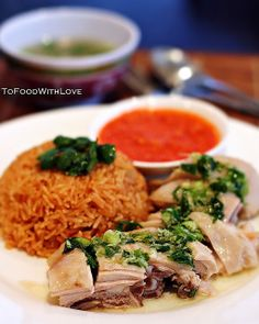 To Food with Love: Scallion and Ginger Chicken with Tomato Rice