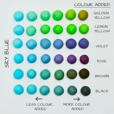 photo, the ball darkened a bit ;) ) - I should have added a bi Icing Color Chart, Color Mixing Chart, Color Charts, Polymer Clay Crafts, Diy Clay, Polymer Clay Jewelry, Food Coloring Mixing Chart, Frosting Colors, Cake Topper Tutorial