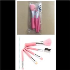 NEW Brushes kit 5 pink brushes soft and comfortable for use. Eyebrow comb brush. It's good for travel set Makeup Brushes & Tools