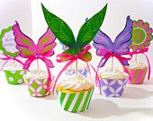 Pixie Tinkerbell Printable Party Cupcake Wrappers and Toppers
