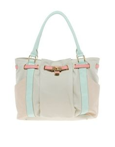 Western Lock Colour Block Tote Bag by Oasis