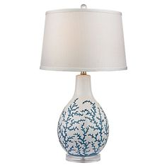 Coral Table Lamp, Blue