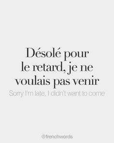 Every day, new French words to discover. Because French is beautiful. French Words Quotes, Basic French Words, How To Speak French, Learn French, French Language Lessons, French Language Learning, French Lessons, Useful French Phrases, French Flashcards