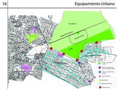 equipamiento urbano: conjunto de edición y espacios en su mayoría públicos para proporcionar a la sociedad servicios de bienestar social o actividades económicas.