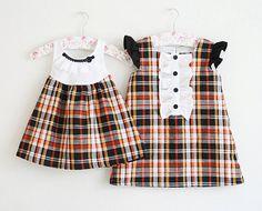 Matching girls dresses