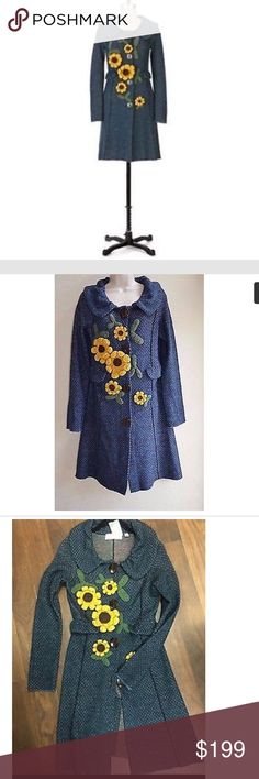 Anthropologie Charlie and Robyn sunflower sweater Sweater coat never worn! Anthropologie Sweaters Cardigans