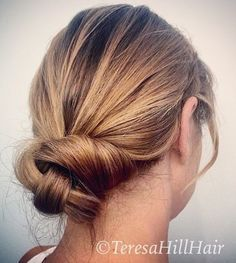 casual low know updo