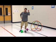 This is a fun catching and throwing team game for PE class! For more Physical Education Videos and game ideas, please visit my P.E. blog at http://carly3.blo...  Great Game!