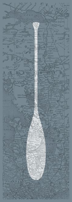 Simple paddle art poster with an authentic antique map background from 1902 featuring the Muskoka region. Great gift idea for men, or decoration for a condo, apartment or man-cave! Canadian People, All About Canada, Map Background, Cottage Art, Art Posters, Poster Making, Paddle, Good Times, Man Cave