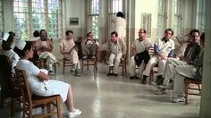 One Flew Over the Cuckoo's Nest group therapy session
