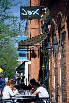 Jax Fish House offers a classic, sidewalk patio! Complete with awesome food.