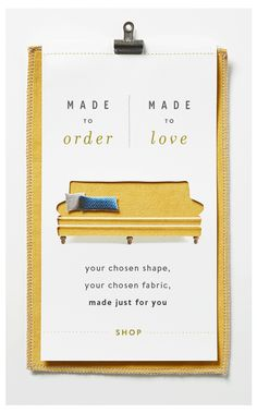 Made to Order furniture is here!