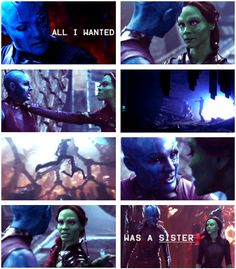 Nebula and Gamora.