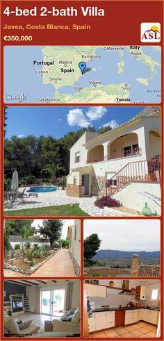 4-bed 2-bath Villa in Javea, Costa Blanca, Spain ►€350,000 #PropertyForSaleInSpain