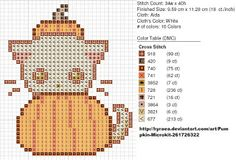Kitty! cross stitch {from Carolyn's Stitchings: October 2011}