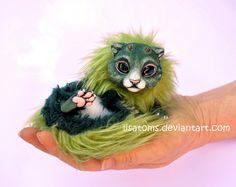 Newborn forest dragon spirit by LisaToms.deviantart.com on @deviantART