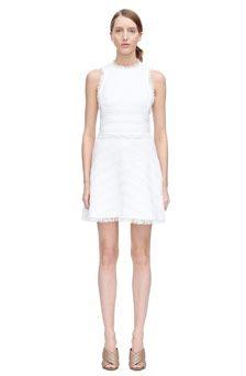 Textured Tweed Skirt Front View