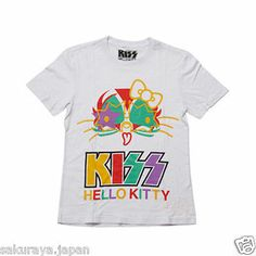 KISS x HELLO KITTY Medicom Toy Men's T-shirt Tops from Japan Gift FREE Shipping