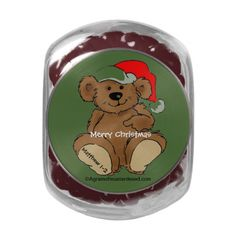 Merry Christmas Glass Candy Jar Agrainofmustardseed.com #getWithTheWord #ItsAChristianThing