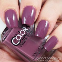 Color Club Shift Into Neutral - Midnight Mulberry  #nail #nails #mani #manicure #jeninthemorning #tutorial