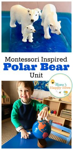 This Montessori Inspired Polar Bear Unit includes nomenclature cards, writing activities, matching w Animal Activities, Montessori Activities, Winter Activities, Infant Activities, Writing Activities, Montessori Materials, Class Activities, Christmas Activities, Polo Norte