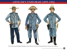 OFFICERS-UNIFORM-1899-1902 The Army of the First Philippine Republic aka Ejercito Filipino.