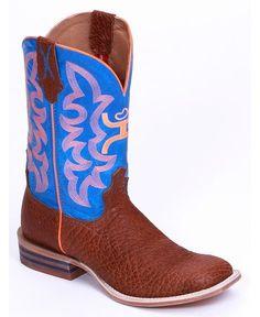 Twisted X® Hooey® Men's Neon Blue Upper Boots