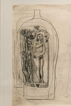 Carlo Scarpa glass design sketch