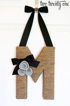 Monogram Wreath idea.
