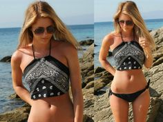 THE DIY BANDANA CROP TOP (Fashion Influx // UK Fashion Blog)