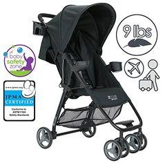 ZOE XL1 SPORT Xtra Lightweight Single Stroller (Black) Zoe