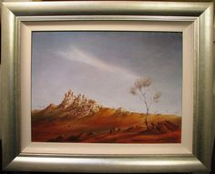 Eric Minchin oil 'Outback Landscape, The White Ladies, Tibooburra NSW' Australia New South, South Wales, Australia, Oil, Landscape, Lady, Painting, Scenery, Painting Art