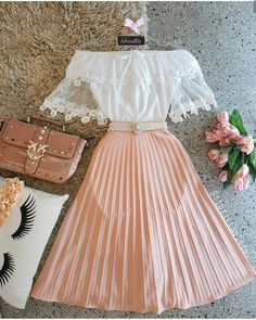 Outfits, school outfits, classy outfits, beautiful outfits, vintage out Girls Fashion Clothes, Teen Fashion Outfits, Mode Outfits, Cute Fashion, Dress Outfits, Girl Outfits, Fashion Dresses, School Outfits, Fashion Styles