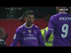 Cristiano Ronaldo Penalty Goal, Fight - Sevilla vs Real Madrid 2-1 - La ... Cristiano Ronaldo, Real Madrid, Football, Goals, Youtube, Sevilla, Soccer, Futbol, American Football