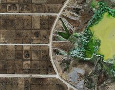 This animal waste lagoon in Texas looks like an infected wound.