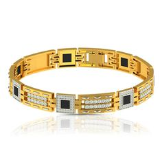 Mens Bracelets: Charujewels offer a verity of men's bracelets in gold design, like white gold, Yellow Gold, and Rose gold diamond bracelets online. To find out a bracelet that fits your style visit our website. Diamond Bracelets, Bracelets For Men, Bangles, Gents Bracelet, Stylish Men, Buttercup, White Gold, Doodle, Ring