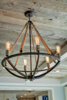 Diy dining room light fixtures dining room light fixtures shattering beautiful rustic lighting fixtures to pursue . Rustic Light Fixtures, Dining Room Light Fixtures, Dining Room Lighting, Bedroom Lighting, Coastal Lighting, Rustic Lighting, Coastal Decor, Rope Lighting, Coastal Style