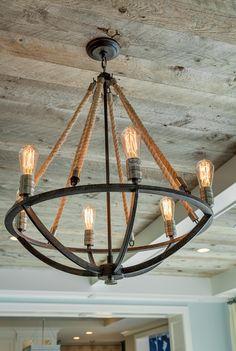 "2015 Mpls.St.Paul Magazine ASID MN Showcase Home - ""Rustic Feel"" (Natural Rope 6 Light Chandelier by Landmark Lighting; Around $760)"