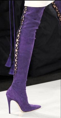 Now in our store: Hot Rome Black/Pu... Check it out here!http://simplysonya731.net/products/hot-rome-black-purple-flock-over-the-knee-womens-shoes-cross-tied-pointed-toe-boots-thin-heels-10-5cm-knight-boots?utm_campaign=social_autopilot&utm_source=pin&utm_medium=pin