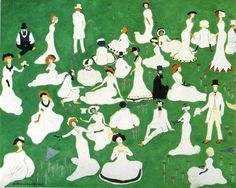 Kazimir Malevich, Rest. Society in Top Hats, 1908.