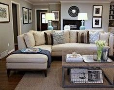 Neutral Living Room Sophisticated But Comfy Living Room Featuring