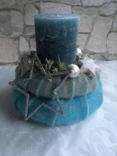 Adventskranz LED Kranz Adventsgesteck mit Kerzenhalter-Set Tischkranz Wandkranz