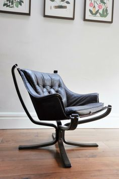 Sigurd Ressell 'Falcon' chair. Norway. 1970s.