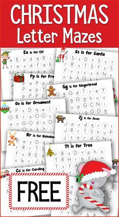 Christmas Dot Fun Letter Mazes are great for tots, preschoolers and Kindergartners! Work on identifying upper and lowercase letters all with a Christmas theme. Christmas Printable Activities, Christmas Activities For Kids, Preschool Christmas, Christmas Themes, Winter Activities, Christmas Maze, Christmas Alphabet, Kids Christmas, Christmas Crafts