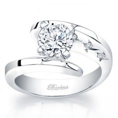 Starnish Bypass Diamond Engagement Ring - 7795LW  #round # unique Barkev`s