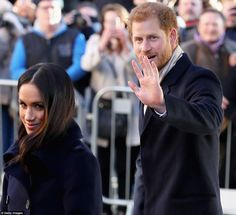 Harry looked happy and proud of his fiancee as she coped so well with the limelight in the...