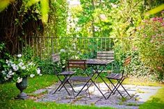 country house: summer terrace in  home garden