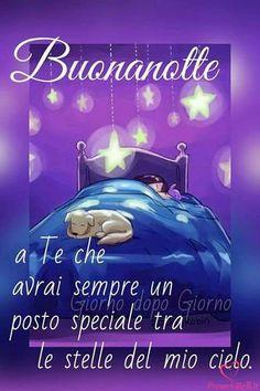 Immagini di Buonanotte - ProverbiBelli.it Good Night Sister, Good Morning Good Night, Day For Night, Dark Fantasy Art, Good Mood, Deep Thoughts, Sweet Dreams, Inspirational Quotes, Facebook